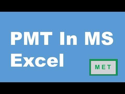 PMT Formula MS Excel 2013