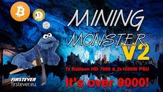 7x Radeon HD 7990 Mining Monster V2 Rig (14 GPUs)