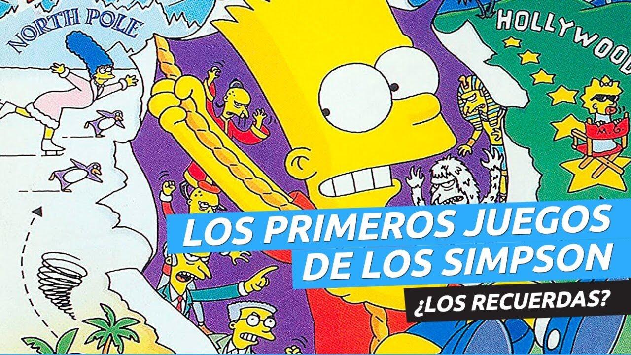 Los juegos de Los Simpson en la primera portada de Hobby Consolas. ¿Los jugaste?