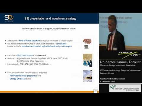 [Stoffstrom-TV] Kreislaufwirtschaftskonferenz 2011 - Energy Investment Company, Marokko