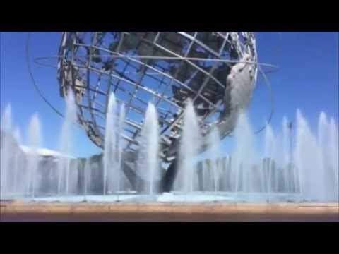 Flushing Meadow Park , Queens New York , Unisphere Fountains