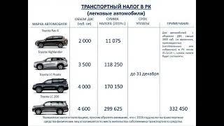 Транспортный налог в РК