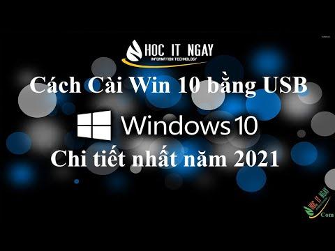 Hướng dẫn cài Windows 10 cho laptop bằng USB mới nhất | Học IT Ngay