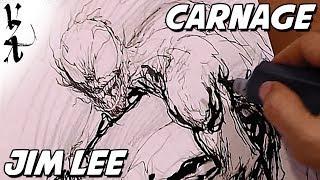 Jim Lee drawing Carnage