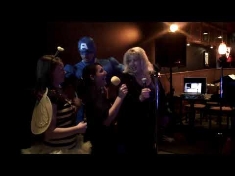 Comic Book Cafe Halloween Party Karaoke with Captain America