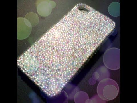 DIY gemstone encrusted iPhone case - Natalie's Creations