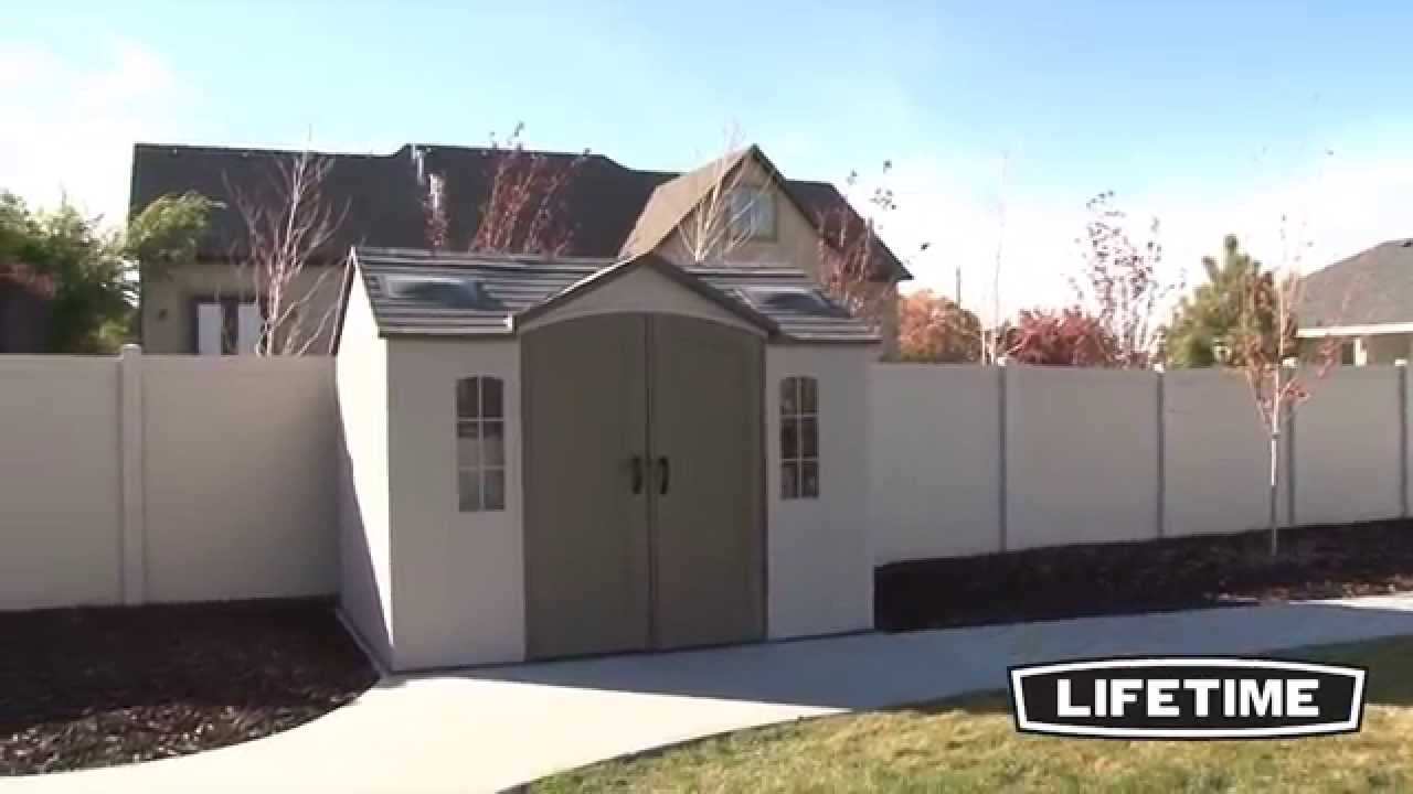 Garden Sheds 10 X 8 lifetime 10 x 8 garden shed - youtube