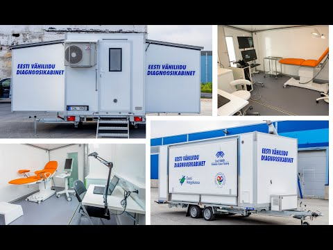 Mobile Medical Clinic, Health On Wheels With Rolling Unit 3-in-1 Fold Out Trailer. Mobile Klinik