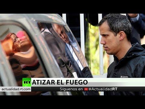 Atacan la camioneta de Juan Guaidó en Caracas
