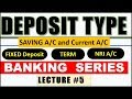 Types of DEPOSIT in INDIAN BANK | Lecture #5 (Banking Series)| Saving , current , NRO , NRI Account