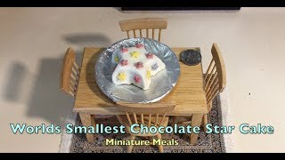 Worlds Smallest Chocolate Star Cake Miniature Meals cooked in a Mini Kitchen ep. 1,195