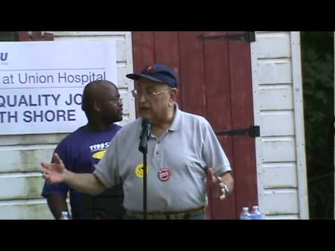 Phil Mamber of Mass Senior Action Supports Union Hospital Workers