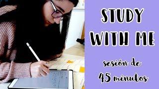 SESIÓN DE ESTUDIO A TIEMPO REAL · 45 minutos: sonido ambiente estudiando en casa | Christine Hug