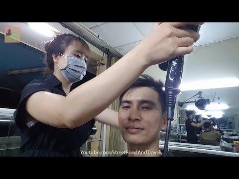 Vietnam Barbershop Massage Face, WashHair by Beautiful Girl Professional Skill
