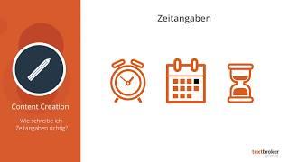 Heute Morgen: Wie schreibe ich Zeitenangaben richtig? | In 2 Minuten zum Content-Experten