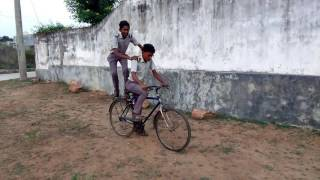 Funny cycle ride