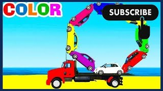 Nursery Rhymes - Cartoon and Colorful Cars Video for Children