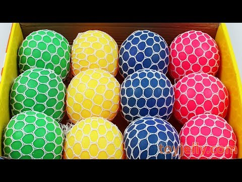 Thumbnail: Squishy Slime Mesh Ball Box Playset Ice Cream Cake Learn Colors Baby Toy Kinder Joy Surprise Egg