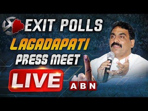 Lagadapati Rajagopal LIVE | Telangana Exit Polls 2018 | ABN LIVE