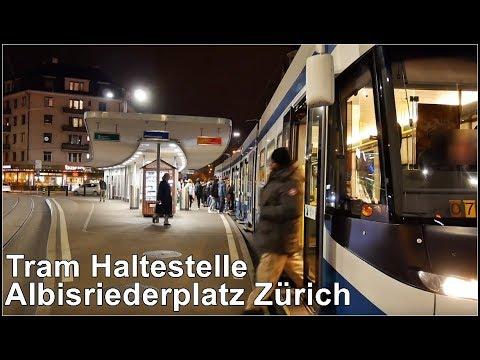 Nachts am Albisriederplatz Zürich, Schweiz