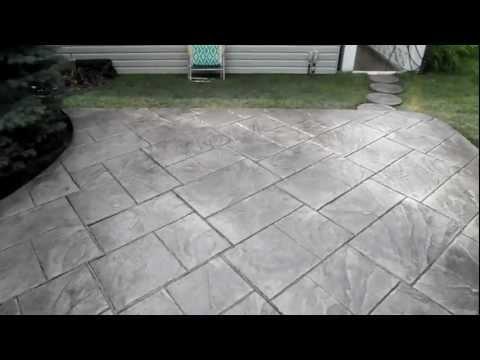 Colored & Stamped Grand Ashler Slate concrete finish