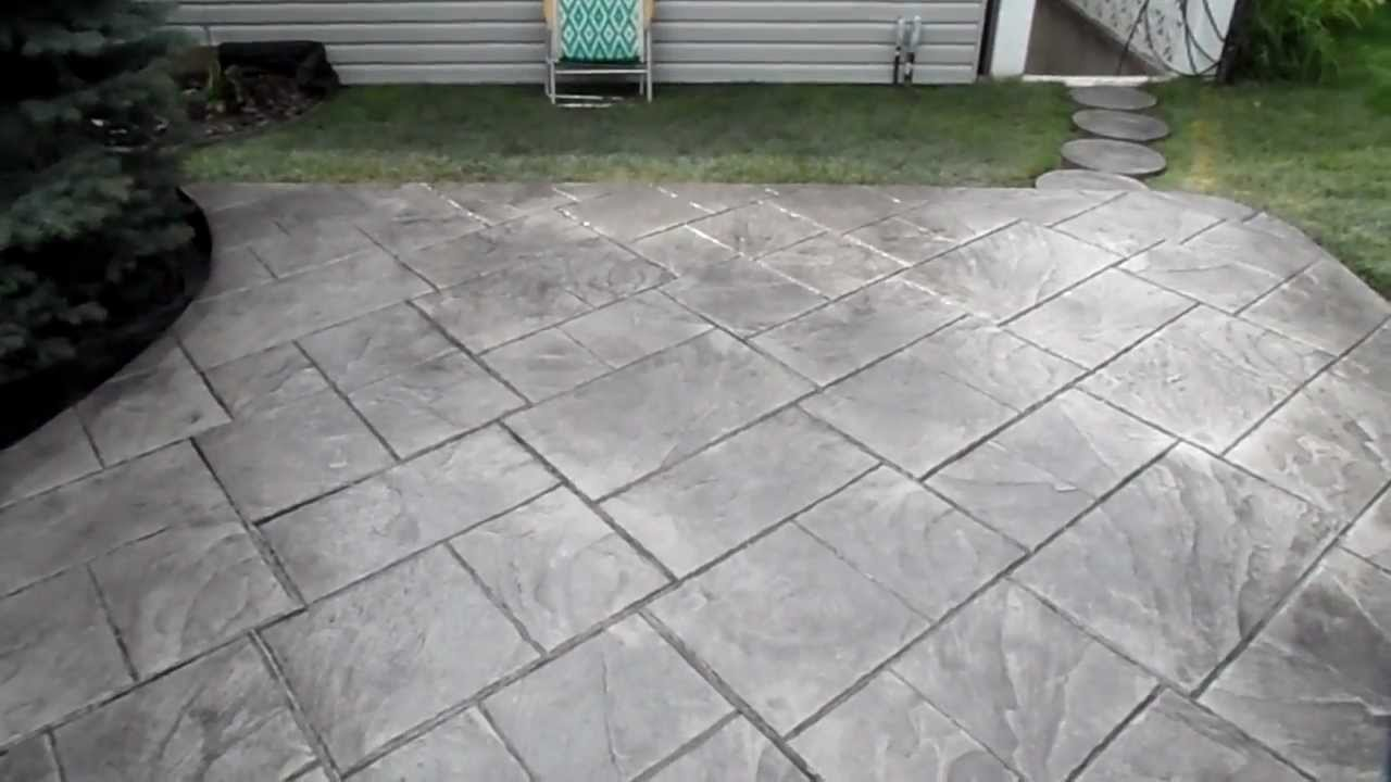 Colored Stamped Grand Ashler Slate Concrete Finish