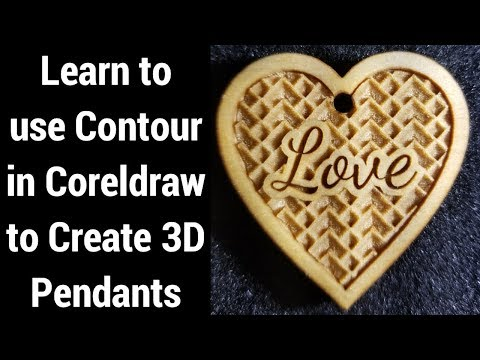 Making Heart Shaped 3D Pendants  Coreldraw and Laser Engraving Tutorial