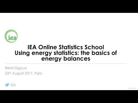 IEA Webinar : Energy Balances