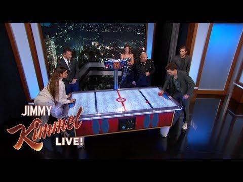 Spider-Man Cast on Tom Holland & Zendaya's Air Hockey Rivalry