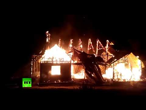 Church burned to the ground in protest of Pope's Chilean visit expenses