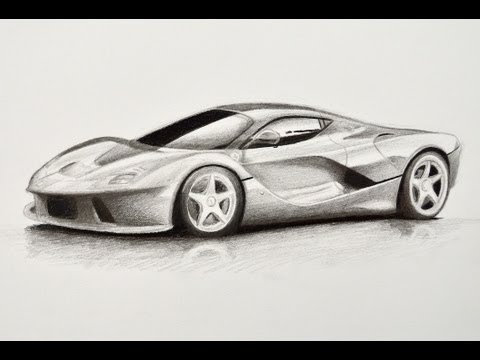 How to Draw a Car: Ferrari - Fine Art-Tips - YouTube