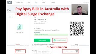 Bpay with Bitcoin using Digital Surge Australian Exchange