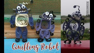 DIY | Paper Quilling Robot | How to make Robot | Easy and Simple | Bharti's Creative Art And Craft