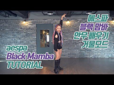 [튜토리얼] aespa (에스파) - Black Mamba (블랙 맘바) 커버댄스 안무 배우기 거울모드 (Mirrored)
