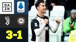 Ronaldo-Doppelpack bringt Juve auf Siegerstraße: Juventus - Udinese 3:1   Serie A   DAZN Highlights