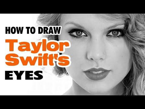 Learn How To Draw TAYLOR SWIFT – Eyes – Realistic Pencil Drawing – TUTORIAL #1