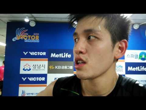 2016 Korea Open MS semis Wong Wing Ki (English interview)