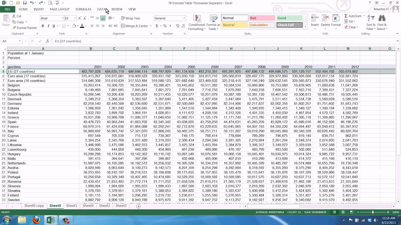 How To Keep The Title Row From Scrolling In Excel
