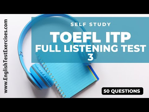 Full TOEFL ITP Listening Test 3