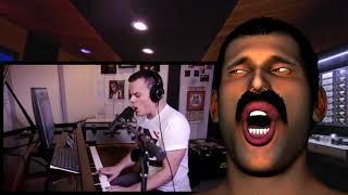 Gambar cover Freddie Mercury Reacts - Marc Martel 'Bohemian Rhapsody'
