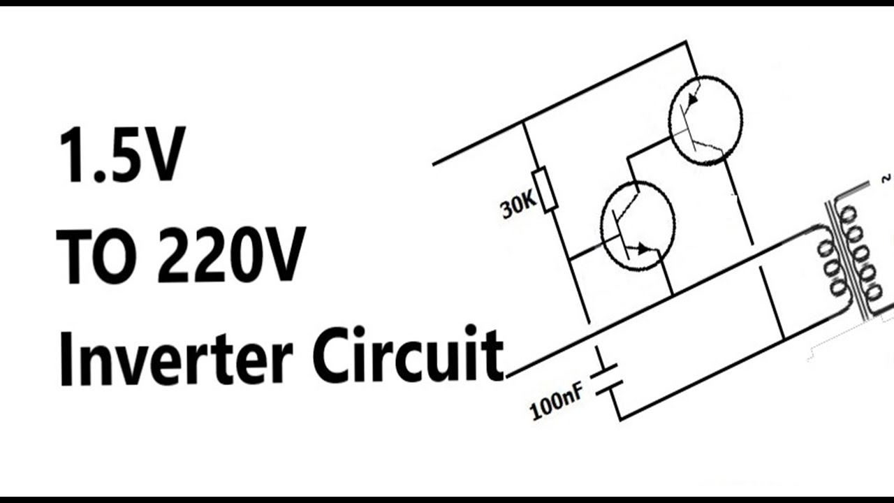 How to make AA (1.5V) Battery to 220V AC Inverter circuit