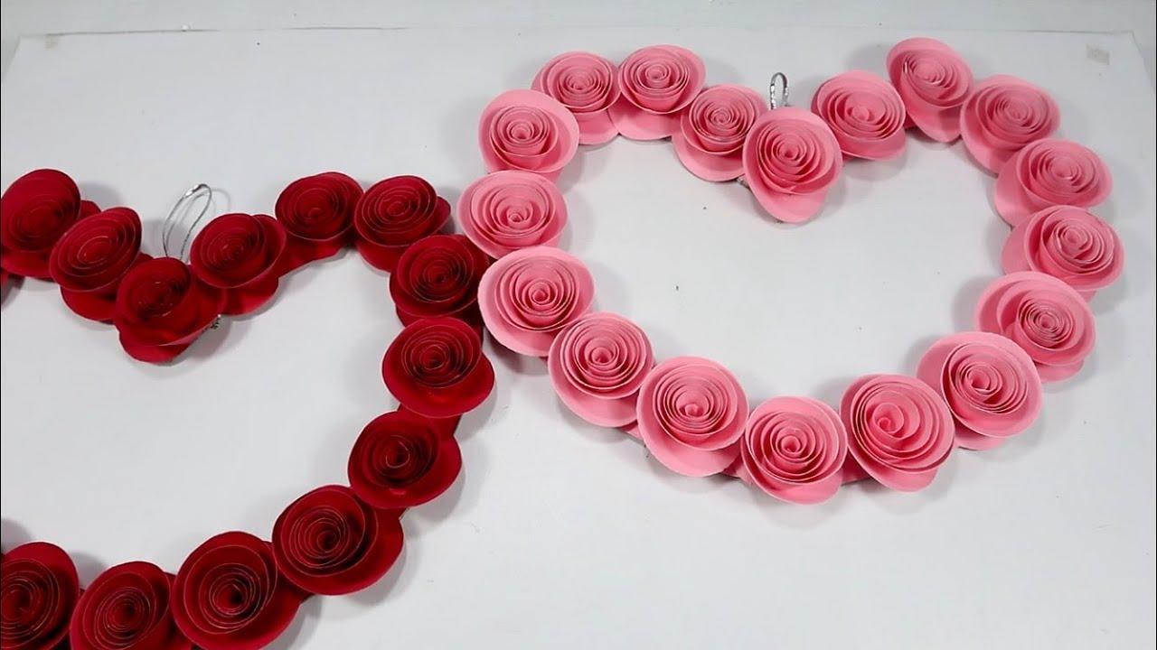 Hiasan Valentine Dari Bunga Kertas Manila Youtube