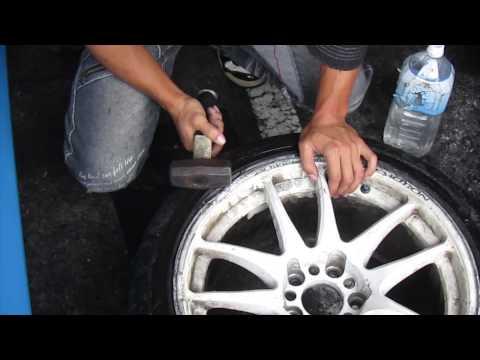 ホイールのエア漏れの直し方荒業編 How to rapair wheel ARAWAZA Edition