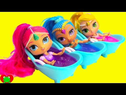 Thumbnail: Shimmer and Shine Slime Bath Surprises LOL Surprise Series 2