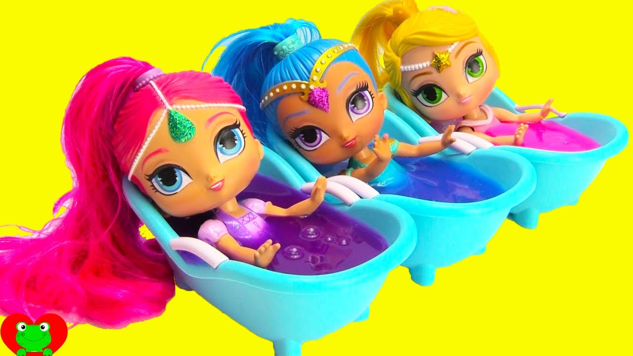 7d16f2f20eb Shimmer and Shine Slime Bath Surprises LOL Surprise Series 2 - YouTube