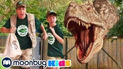 Giant T-Rex Dinosaur Escape! | Jurassic Tv | Dinosaurs and Toys | T Rex Family Fun