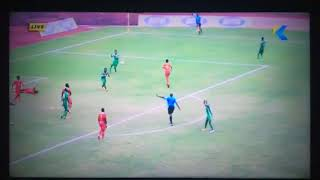 The controversial penalty awarded Kotoko against Nea Salamina in the MTN FA Cup