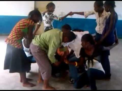Kindu, Democratic Republic of the Congo. Enano School Girls