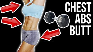 5 Best Dumbbell Exercises To Lift Butt   Tighten Lower Abs   Tone Chest