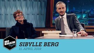 Sibylle Berg Zu Gast Im Neo Magazin Royale Mit Jan Böhmermann - Zdfneo